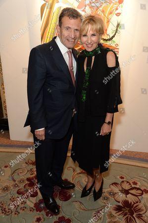 Stock Photo of Poju Zabludowicz and Wendy Fisher