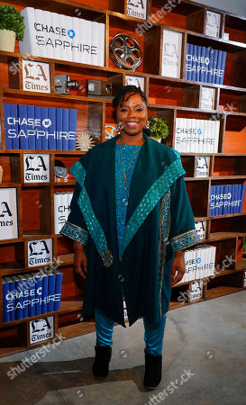 Patrisse Cullors poses for a photo at the LA Times Studio during the Sundance Film Festival presented by Chase Sapphire, in Park City, Utah