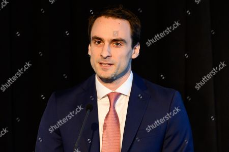 Michael Kratsios, Deputy U.S. Chief Technology Officer and Deputy Assistant to the President at the White House Office of Science and Technology Policy, speaking at the State of the Net Conference 2019 at the Newseum in Washington, DC.