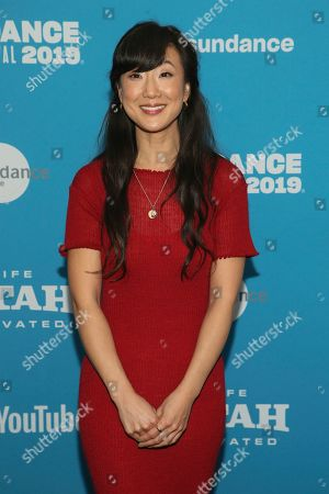 """Jennifer Kim poses at the premiere of the film """"Corporate Animals"""" during the 2019 Sundance Film Festival, in Park City, Utah"""
