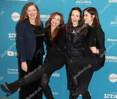 Norwegian producer Synnove Horsdal, Swedish choreographer and figure skating coach Catarina Lindgren, Irish actress Valene Kane and Norwegian director Anne Sewitsky arrive for the premiere of 'Sonja - The White Swan' at the 2019 Sundance Film Festival in Park City, Utah, USA, 29 January 2019. The festival runs from 24 January to 02 February 2019.