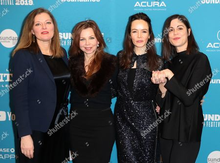 Stock Image of Norwegian producer Synnove Horsdal, Swedish choreographer and figure skating coach Catarina Lindgren, Irish actress Valene Kane and Norwegian director Anne Sewitsky arrive for the premiere of 'Sonja - The White Swan' at the 2019 Sundance Film Festival in Park City, Utah, USA, 29 January 2019. The festival runs from 24 January to 02 February 2019.