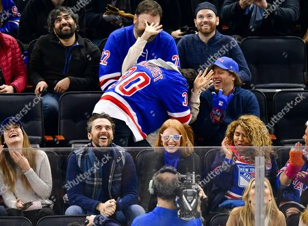 Editorial image of Celebrities at Philadelphia Flyers v New York Rangers, NHL ice hockey match, Madison Square Garden, New York, USA - 29 Jan 2019