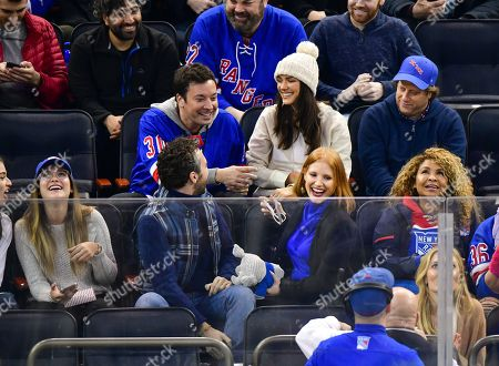 Editorial picture of Celebrities at Philadelphia Flyers v New York Rangers, NHL ice hockey match, Madison Square Garden, New York, USA - 29 Jan 2019