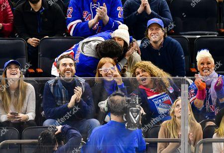 Editorial photo of Celebrities at Philadelphia Flyers v New York Rangers, NHL ice hockey match, Madison Square Garden, New York, USA - 29 Jan 2019
