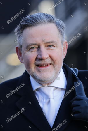 Shadow Secretary of State for International Trade Barry Gardiner on College Green after giving media interviews.