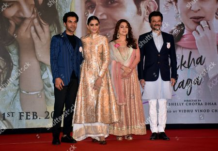 (left to right) Rajkumar Rao, Sonam Kapoor, Juhi Chawla and Anil Kapoor