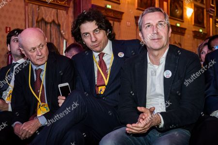 Bruno Tabacci, Marco Cappato, Benedetto Della Vedova during First National Congress of More Europe Party (+Europa)