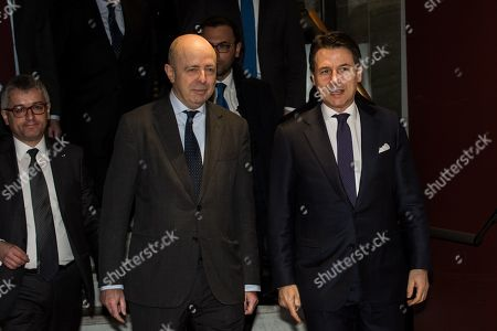Editorial image of Prime Minister Giuseppe Conte at the Stock Exchange, Milan, Italy - 30 Jan 2019
