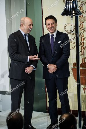CEO of Borsa Italiana Raffaele Jerusalmi, Italian Prime Minister Giuseppe Conte