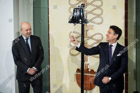 Editorial photo of Prime Minister Giuseppe Conte at the Stock Exchange, Milan, Italy - 30 Jan 2019