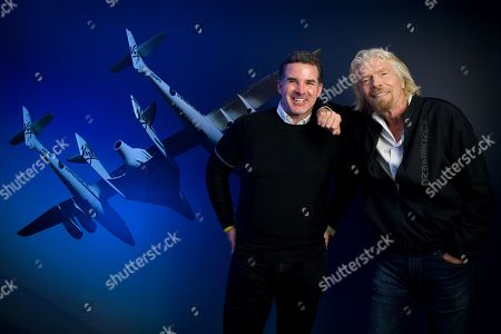 Stock Photo of Sir Richard Branson and Under Armour CEO Kevin Plank