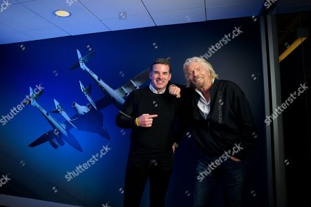 Stock Image of Sir Richard Branson and Under Armour CEO Kevin Plank