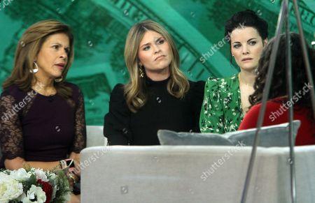 Stock Photo of Hoda Kotb, Jenna Bush, Jaimie Alexander