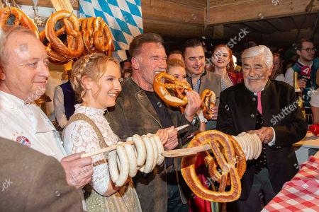 Alfons Schuhbeck, Maria Hauser, Arnold Schwarzenegger, girlfriend Heather Milligan, Andreas Gabalier, Mario Adorf