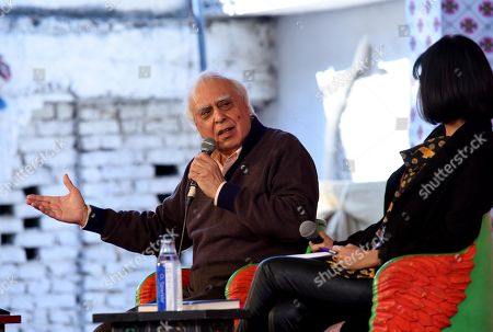 Kapil Sibal in conversation with Barkha Dutt during 'Shades of Life' session