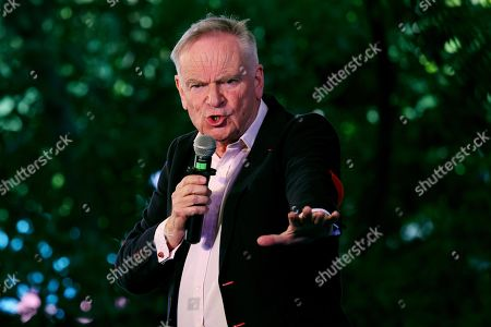 English novelist and former politician Jeffrey Archer during 'Heads You Win' session