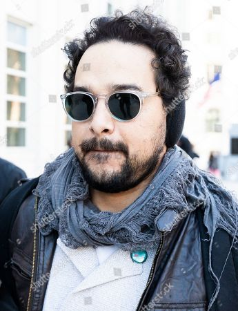 Stock Picture of Actor Alejandro Edda, who plays El Chapo in the Netflix show 'Narcos' arrives for the continuation of the trial of Joaquin 'El Chapo' Guzman, at United States Federal Court in Brooklyn, New York, USA, 30 January 2019. Closing arguments are expected to begin in the case after Guzman's defense rested on Tuesday. Guzman is facing multiple charges of money laundering and for directing murders and kidnappings while he allegedly ran a drug cartel.