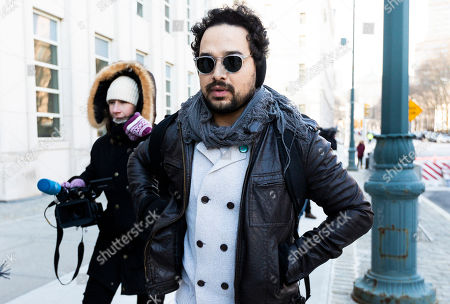 Actor Alejandro Edda (R), who plays El Chapo in the Netflix show 'Narcos' arrives for the continuation of the trial of Joaquin 'El Chapo' Guzman, at United States Federal Court in Brooklyn, New York, USA, 30 January 2019. Closing arguments are expected to begin in the case after Guzman's defense rested on Tuesday. Guzman is facing multiple charges of money laundering and for directing murders and kidnappings while he allegedly ran a drug cartel.