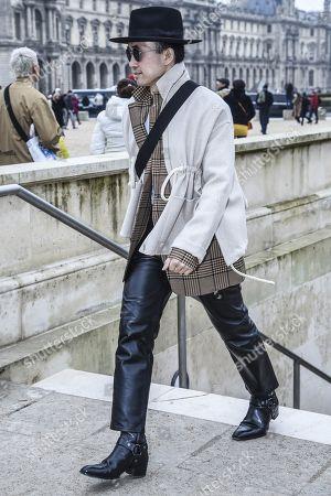 Editorial photo of Street Style, Fall Winter 2019, Paris Fashion Week Men's, France - 15 Jan 2019
