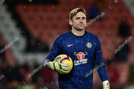Stock Image of Chelsea Goalkeeper, Robert Green (31) during the Premier League match between Bournemouth and Chelsea at the Vitality Stadium, Bournemouth