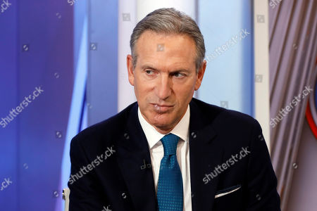 "Former Starbucks CEO Howard Schultz is interviewed by FOX News Anchor Dana Perino for her ""The Daily Briefing"" program, in New York, . Schultz said he's flirting with an independent presidential campaign that would motivate voters turned off by both parties"