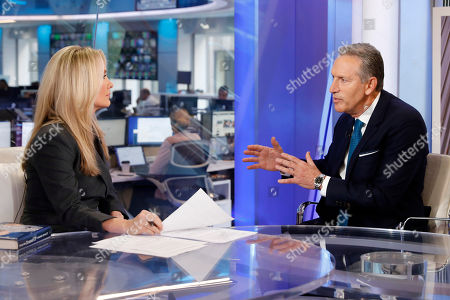"Dana Perino, Howard Schultz. Former Starbucks CEO Howard Schultz is interviewed by FOX News Anchor Dana Perino for her ""The Daily Briefing"" program, in New York, . Schultz said he's flirting with an independent presidential campaign that would motivate voters turned off by both parties"
