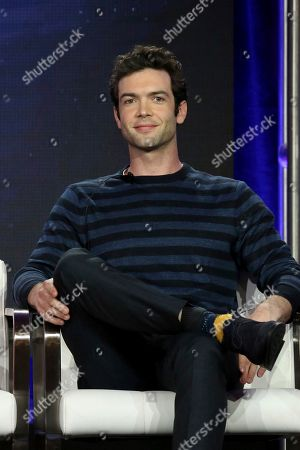 Ethan Peck participates in the 'Star Trek: Discovery' show panel during the CBS All Access presentation at the Television Critics Association Winter Press Tour at The Langham Huntington, in Pasadena, Calif