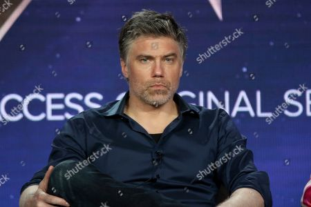 Anson Mount participates in the 'Star Trek: Discovery' show panel during the CBS All Access presentation at the Television Critics Association Winter Press Tour at The Langham Huntington, in Pasadena, Calif