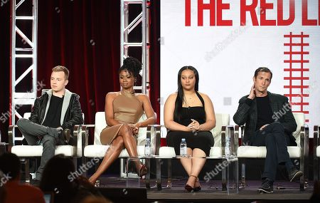Noel Fisher, Emayatzy Corinealdi, Aliyah Royale and Noah Wyle