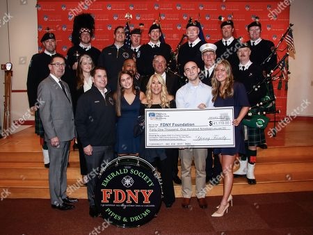 Mark Cuban, Daymond John, Kevin O'Leary, Lori Greiner, Kaley Young,  Keira Young and Christian Young
