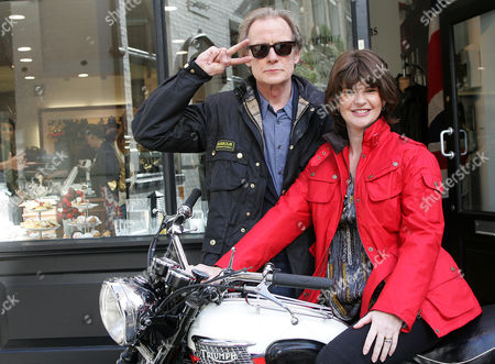 Stock Image of Helen Barbour and actor Bill Nighy