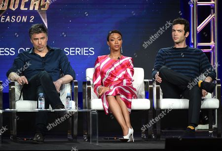 Stock Image of Anson Mount, Sonequa Martin-Green and Ethan Peck