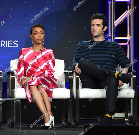 Sonequa Martin-Green and Ethan Peck