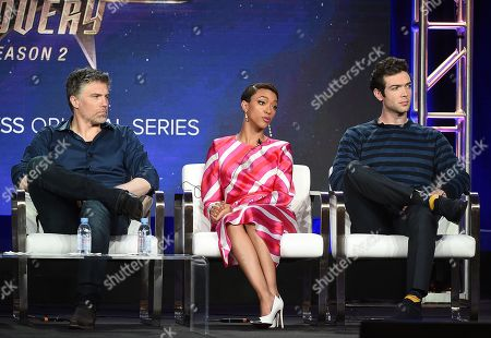 Anson Mount, Sonequa Martin-Green and Ethan Peck