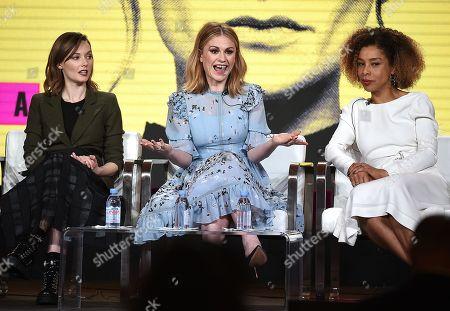Editorial picture of Pop TV 'Flack' TV show panel, TCA Winter Press Tour, Los Angeles, USA - 30 Jan 2019
