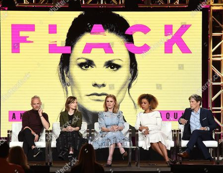 Editorial image of Pop TV 'Flack' TV show panel, TCA Winter Press Tour, Los Angeles, USA - 30 Jan 2019
