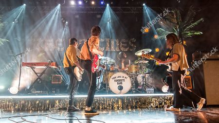 Editorial photo of The Vaccines in concert at Motherwell Civic Concert Hall, Motherwell, UK - 30 Jan 2019