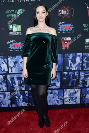 Emma Dumont arrives at Excelsior! A Celebration of the Amazing, Fantastic, Incredible & Uncanny Life of Stan Lee, at the TCL Chinese Theatre in Los Angeles