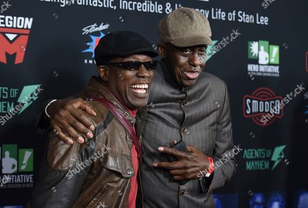 Wesley Snipes, Bill Duke. Wesley Snipes, left, and Bill Duke arrive at Excelsior! A Celebration of the Amazing, Fantastic, Incredible & Uncanny Life of Stan Lee, at the TCL Chinese Theatre in Los Angeles