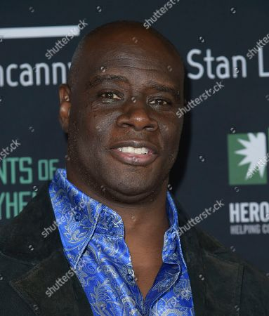 Stock Image of Isaac C. Singleton Jr. arrives at Excelsior! A Celebration of the Amazing, Fantastic, Incredible & Uncanny Life of Stan Lee, at the TCL Chinese Theatre in Los Angeles