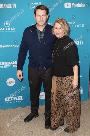 Derek Cecil (L) and his wife Melissa Bruning (R) arrives for the premiere of ''The Tomorrow Man'' at the 2019 Sundance Film Festival in Park City, Utah, USA, 30 January 2019. The festival runs from 24 January to 02 February 2019.