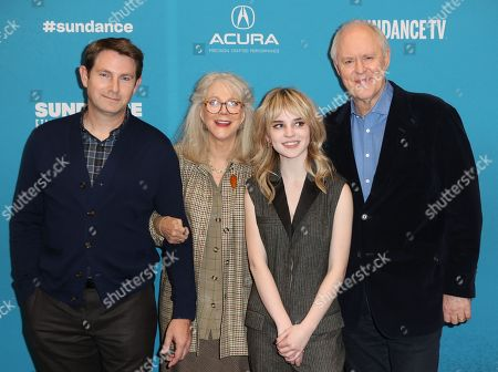 Derek Cecil, US actress Blythe Dnner, US actress Sophie Thatcher and US actor John Lithgow arrive for the premiere of ''The Tomorrow Man'' at the 2019 Sundance Film Festival in Park City, Utah, USA, 30 January 2019. The festival runs from 24 January to 02 February 2019.