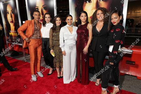 Ismael Cruz Cordova, Cristina Rodlo, America Ferrera, Eva Longoria, Gina Rodriguez, Diana Maria Riva and Christina Milian