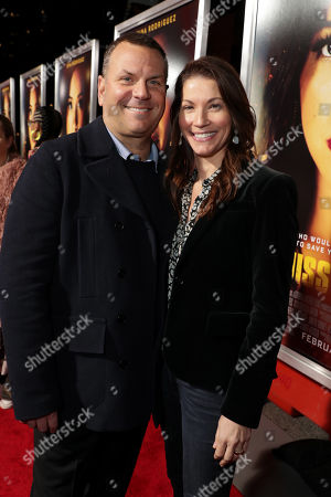 Stock Image of Kevin Misher, Producer, and Danielle Misher seen at Columbia Pictures presents the World Premiere of MISS BALA at Regal L.A. Live