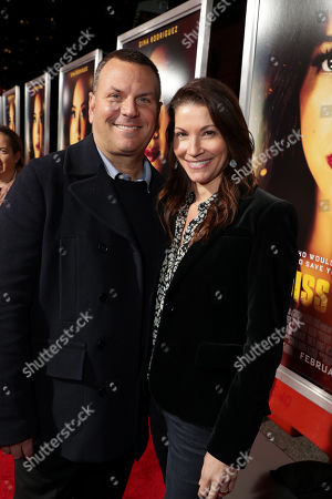 Stock Picture of Kevin Misher, Producer, and Danielle Misher seen at Columbia Pictures presents the World Premiere of MISS BALA at Regal L.A. Live