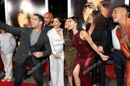 Wilmer Valderrama, Amaury Nolasco, Eva Longoria, America Ferrera, Gina Rodriguez, Diana Maria Riva and Ismael Cruz Cordova seen at Columbia Pictures presents the World Premiere of MISS BALA at Regal L.A. Live