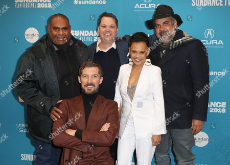 Indigenous cinematographer Murray Lui, Welsh actor Gwilym Lee, Australian producer Joshua Tyler, Indigenous Australian actress Miranda Tapsell, and Indigenous Australian director Wayne Blair, arrive for the premiere of ''Top End Wedding'' at the 2019 Sundance Film Festival in Park City, Utah, USA, 30 January 2019. The festival runs from 24 January to 02 February 2019.