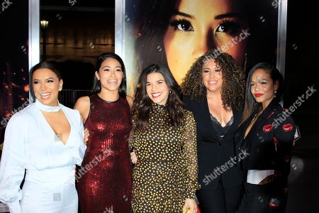 Eva Longoria, US actress Gina Rodriguez, US actress America Ferrera, US actress Diana Maria Riva, US actress Christina Milian arrive for the world premiere of 'Miss Bala' at the Regal L.A. Live in Los Angeles, California, USA 30 January 2019. The movie opens in the USA on 01 February 2019.