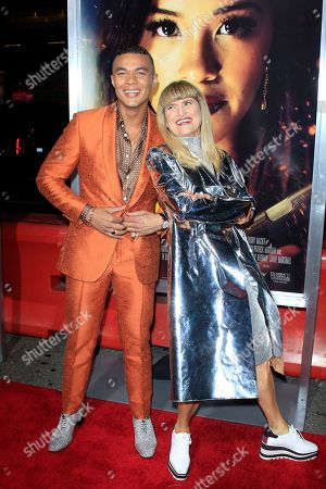 Ismael Cruz Cordova (L) and US director Catherine Hardwicke